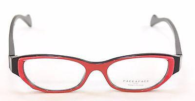 Face A Face Eyeglasses Frame Epoca 1 3016 Red Black Plastic France Hand Made