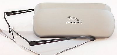 Jaguar Eyeglasses Frame 33542-610 Black Red Accent Metal Germany Made 56-18-135 - Frame Bay