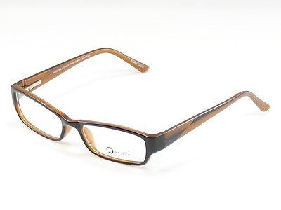 Modern Eyeglasses Frame Concert Plastic Brown Caramel China Made 53-18-135 - Frame Bay