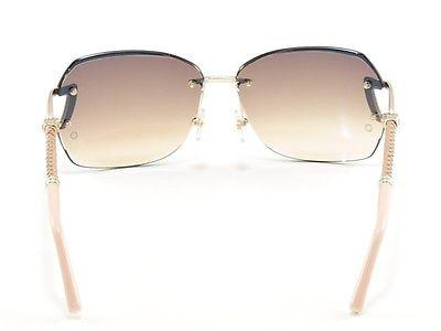 Mont Blanc Sunglasses MB470S 32F Gold Beige Pink Gradient Woman Italy 100% UV