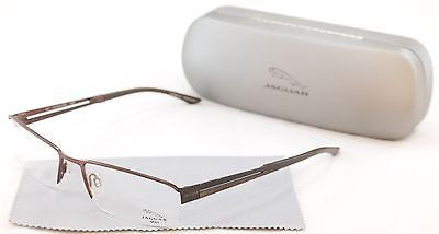 Jaguar Eyeglasses 33542-510 Brown Metal Frame Germany Made 56-18-135