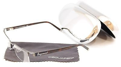 Dsquared2 Eyeglasses Frame DQ5069 091 Brown Metal Plastic High Quality 53-18-140