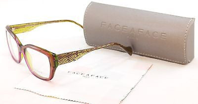 Image of Face A Face Eyeglasses Frame Calas 1 247 Purple Green Plastic France Made 53-16