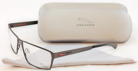 Jaguar Eyeglasses Frame 33801-420 Gray Metal Performance Germany Made 58-14-135 - Frame Bay