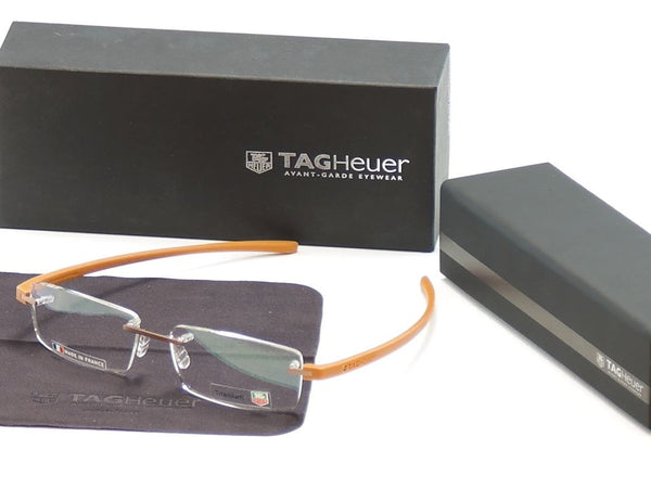 Tag Heuer Eyeglasses Frame Reflex 3 3941 Titanium Brown France Made 56-16-140 - Frame Bay
