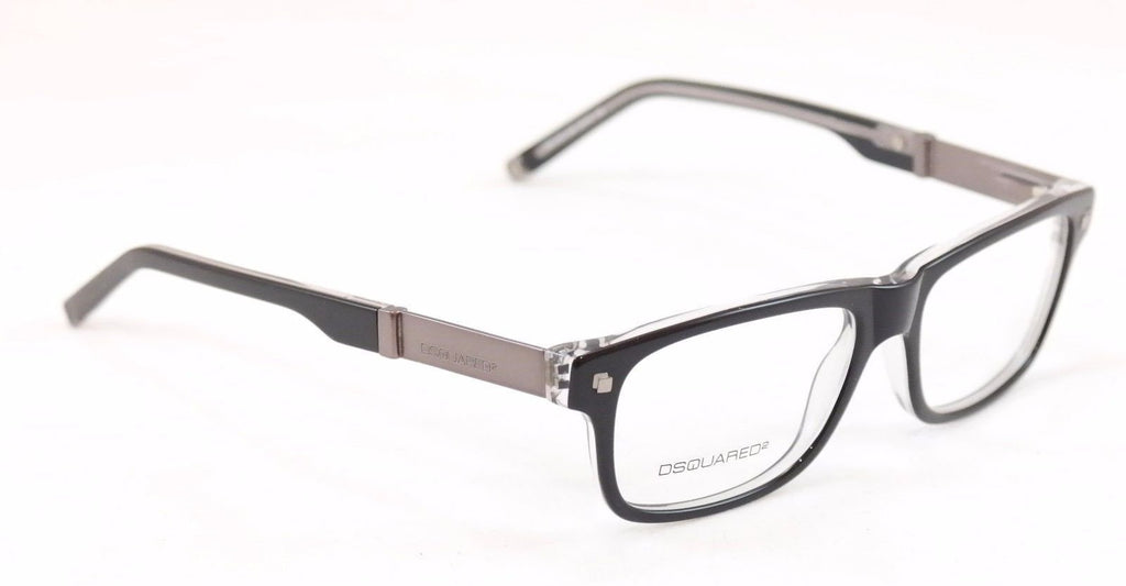 Dsquared2 Eyeglasses Frame DQ5103 003 Black Plastic Metal Italy Made 52-16-145