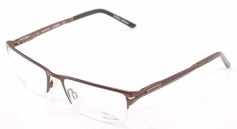 Jaguar Eyeglasses 39504-510 Brown Sand Metal Frame Germany Made 54-18-140