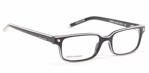 Image of Dsquared2 Eyeglasses Frame DQ5018 001 Black White Plastic China Made 52-17-140