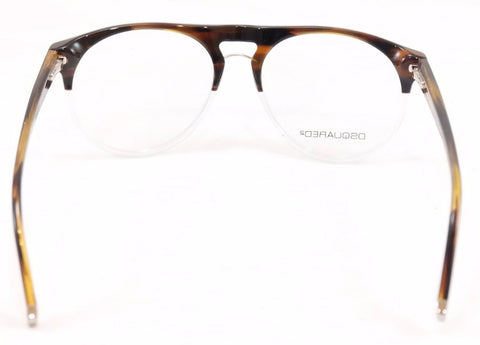 Image of Dsquared2 Eyeglasses Frame DQ5074 056 Brown Havana White Plastic Italy 51-16-145