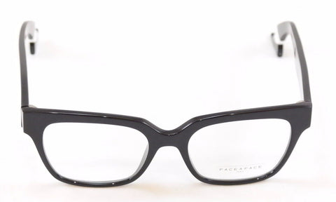 Face A Face Eyeglasses Frame Bocca Smoking 1 2002 Black Plastic Italy Hand Made