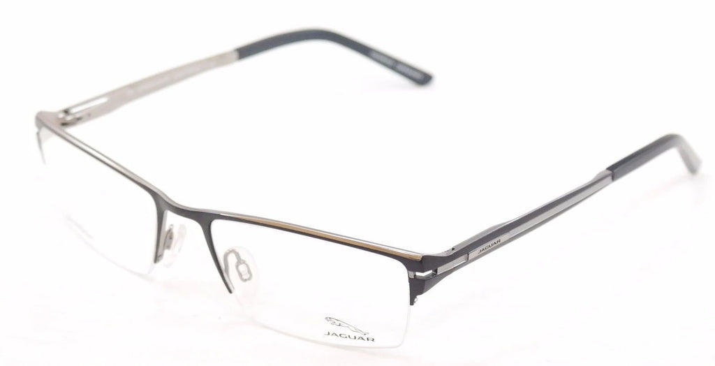 Jaguar Eyeglasses Frame 39504-647 Black Silver Metal Germany Made 54-18-140
