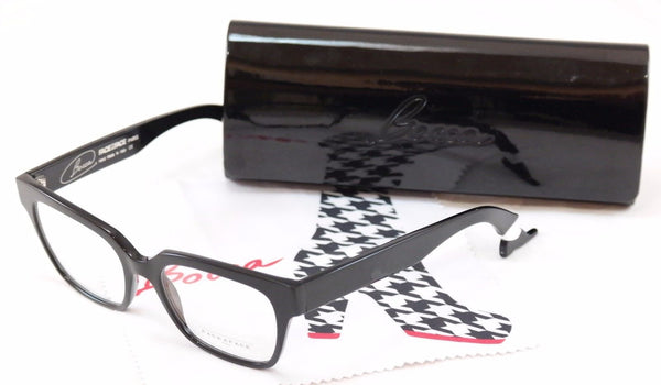 Face A Face Eyeglasses Frame Bocca Smoking 1 2002 Black Plastic Italy Hand Made - Frame Bay