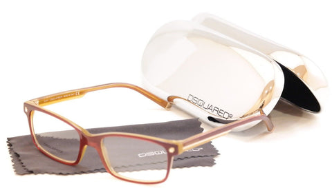 Dsquared2 Eyeglasses Frame DQ5036 071 Burgundy Honey Plastic Italy 54-17-145 - Frame Bay