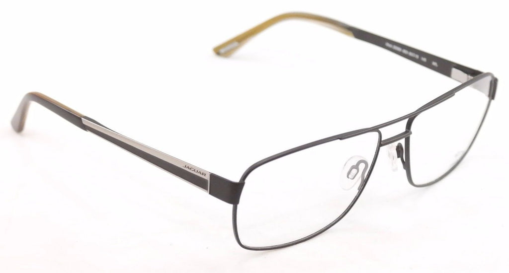 Jaguar Eyeglasses Frame 33068-853 Meta Black High Quality Germany 60-15-145