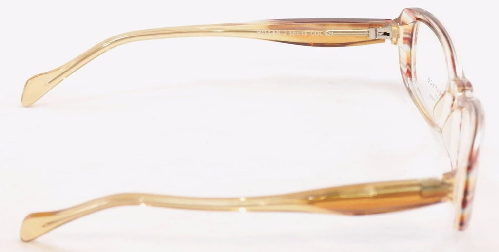 Face A Face Eyeglasses Frame Roxan 2 Transparent Tan Plastic France Hand Made