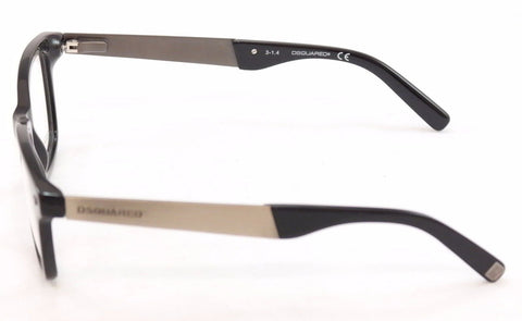 Image of Dsquared2 Eyeglasses Frame DQ5130 001 Black Plastic Metal High Quality 49-18-145