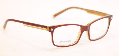 Image of Dsquared2 Eyeglasses Frame DQ5036 071 Burgundy Honey Plastic Italy 54-17-145