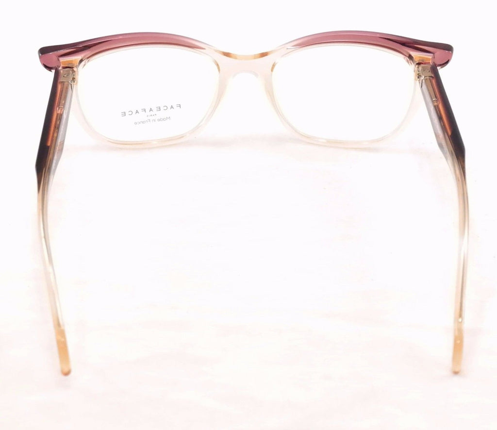 Face A Face Eyeglasses Ebony 3 598 Rose Yellow Crystal Plastic France Hand Made