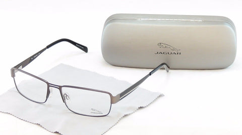 Jaguar Eyeglasses Frame 33058-817 Brown Metal High Quality Germany 57-17-140 - Frame Bay