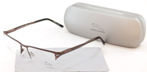 Jaguar Eyeglasses 39504-510 Brown Sand Metal Frame Germany Made 54-18-140 - Frame Bay
