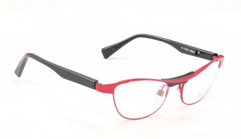 Image of Alain Mikli Eyeglasses AL1220 MOB7 Red Black Metal Plastic France Made 55-17-135