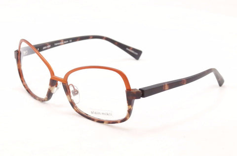 Alain Mikli Eyeglasses Japan AL1330 MOFD Copper Brown Metal Plastic 56-16-140