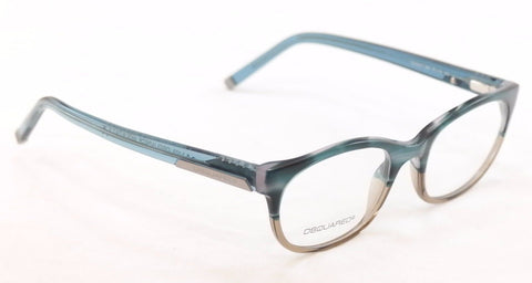 Image of Dsquared2 Eyeglasses Frame DQ5041 065 Azure Transparent Plastic Italy 51-19-145