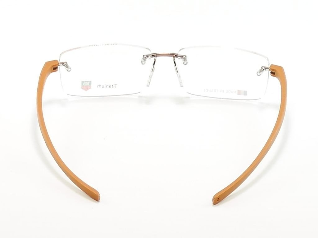 Tag Heuer Eyeglasses Frame Reflex 3 3941 Titanium Brown France Made 56-16-140