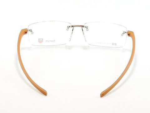 Image of Tag Heuer Eyeglasses Frame Reflex 3 3941 Titanium Brown France Made 56-16-140