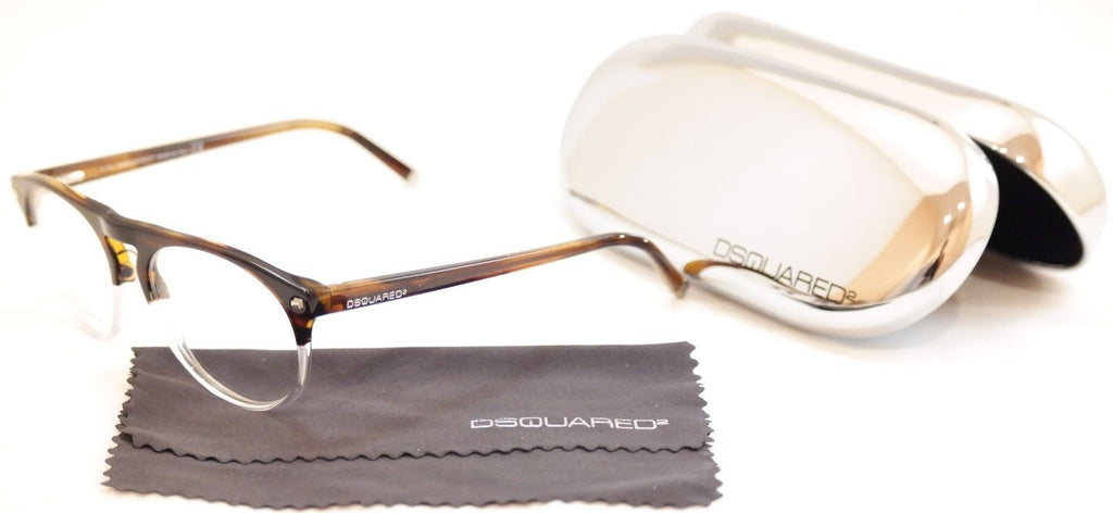 Dsquared2 Eyeglasses Frame DQ5074 056 Brown Havana White Plastic Italy 51-16-145