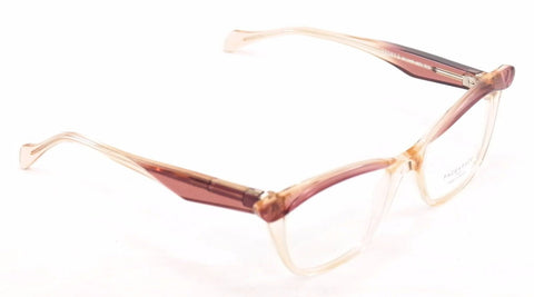 Image of Face A Face Eyeglasses Ebony 3 598 Rose Yellow Crystal Plastic France Hand Made