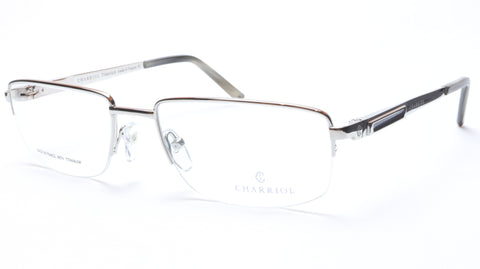 Charriol Eyeglasses Frame PC7396 C3 Silver Titanium France Made 55-18-140 - Frame Bay