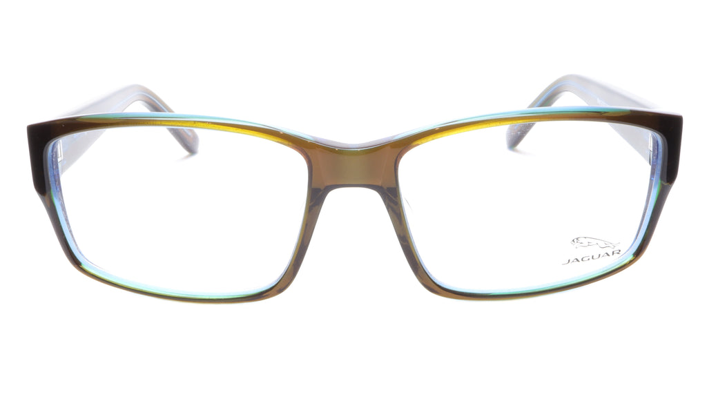 Jaguar Eyeglasses Brown Blue 31011-6127 Plastic Germany Made Frame 57-16-135