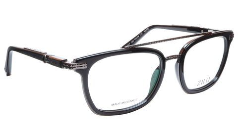 ZILLI Eyeglasses Frame Acetate Titanium Black France Hand Made ZI 60017 C02