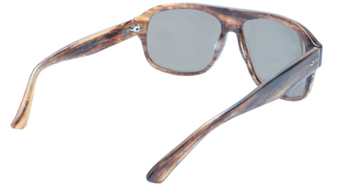 Sama Sunglasses Quentin Brown Tortoise Polarized Lenses Acetate Japan 63-15-140