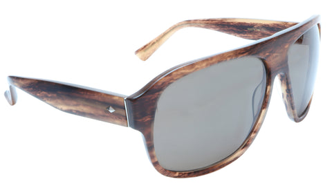 Image of Sama Sunglasses Quentin Brown Tortoise Polarized Lenses Acetate Japan 63-15-140