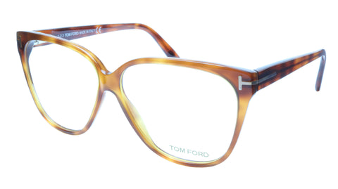 Tom Ford TF5302 053 Eyeglasses Frame Brown Tortoise Acetate Italy Made 57-11-140 - Frame Bay