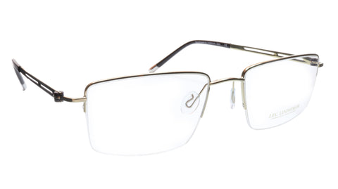 LINDSTROM L-104 C3 Eyeglasses Frame Metal White Gold Black Italy Made 56-19-143