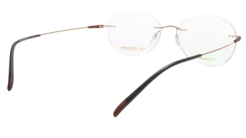 Image of LINDSTROM L-105 C3 Eyeglasses Frame Titanium Gold Brown Italy Made 53-18-145