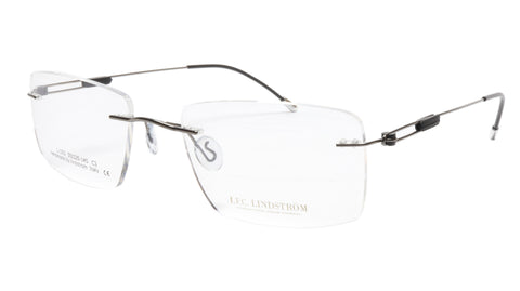 Image of LINDSTROM L-103 C3 Eyeglasses Frame Metal Gunmetal Black Italy Made 55-20-145