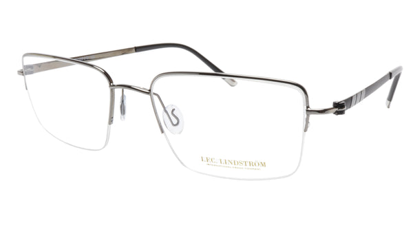 LINDSTROM L-101 C3 Frame Acetate Metal Gunmetal Black Italy Made 56-19-143 - Frame Bay
