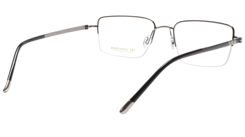 LINDSTROM L-101 C3 Frame Acetate Metal Gunmetal Black Italy Made 56-19-143
