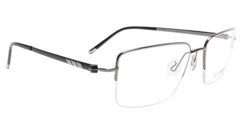 Image of LINDSTROM L-101 C3 Frame Acetate Metal Gunmetal Black Italy Made 56-19-143