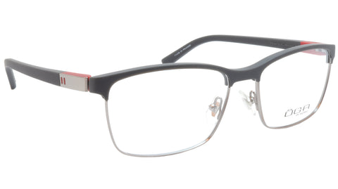 Image of OGA Morel Eyeglasses Frame 82730 GR040 Acetate Matt Black Gunmetal Red France