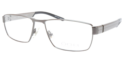 Image of OGA Morel Eyeglasses Frame 76540 GG060 Metal Acetate Gunmetal Silver France