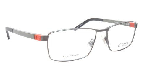 Image of OGA Morel Eyeglasses Frame 81730 GR041 Metal Acetate Black Silver Orange France
