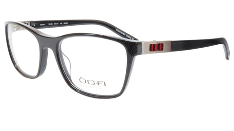 OGA Morel Eyeglasses Frame 73430 NR020 Acetate Black Red France 53-17-140, 37