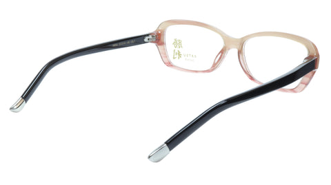 Image of KATSU K8054 COL3 Eyeglasses Frame Acetate Saddlebrown Black 53-16-140 Japan