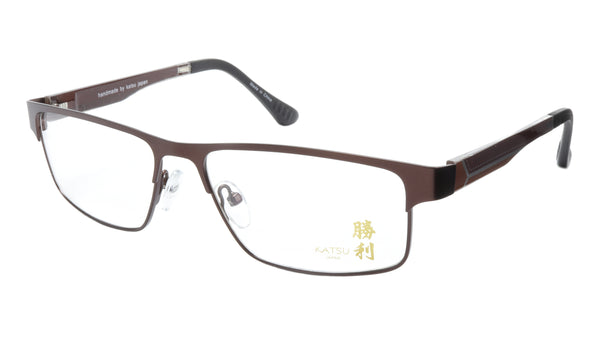 KATSU 4040C C040 Eyeglasses Frame Acetate Metal Bronze 55-15-138 Made In Japan - Frame Bay