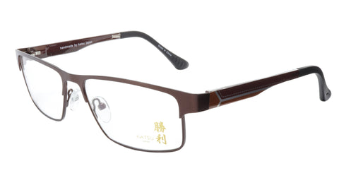 KATSU 4040C C040 Eyeglasses Frame Acetate Metal Bronze 55-15-138 Made In Japan